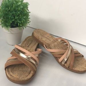 Comfortiva Pillowtop Strappy Slide-on Sandals 8M
